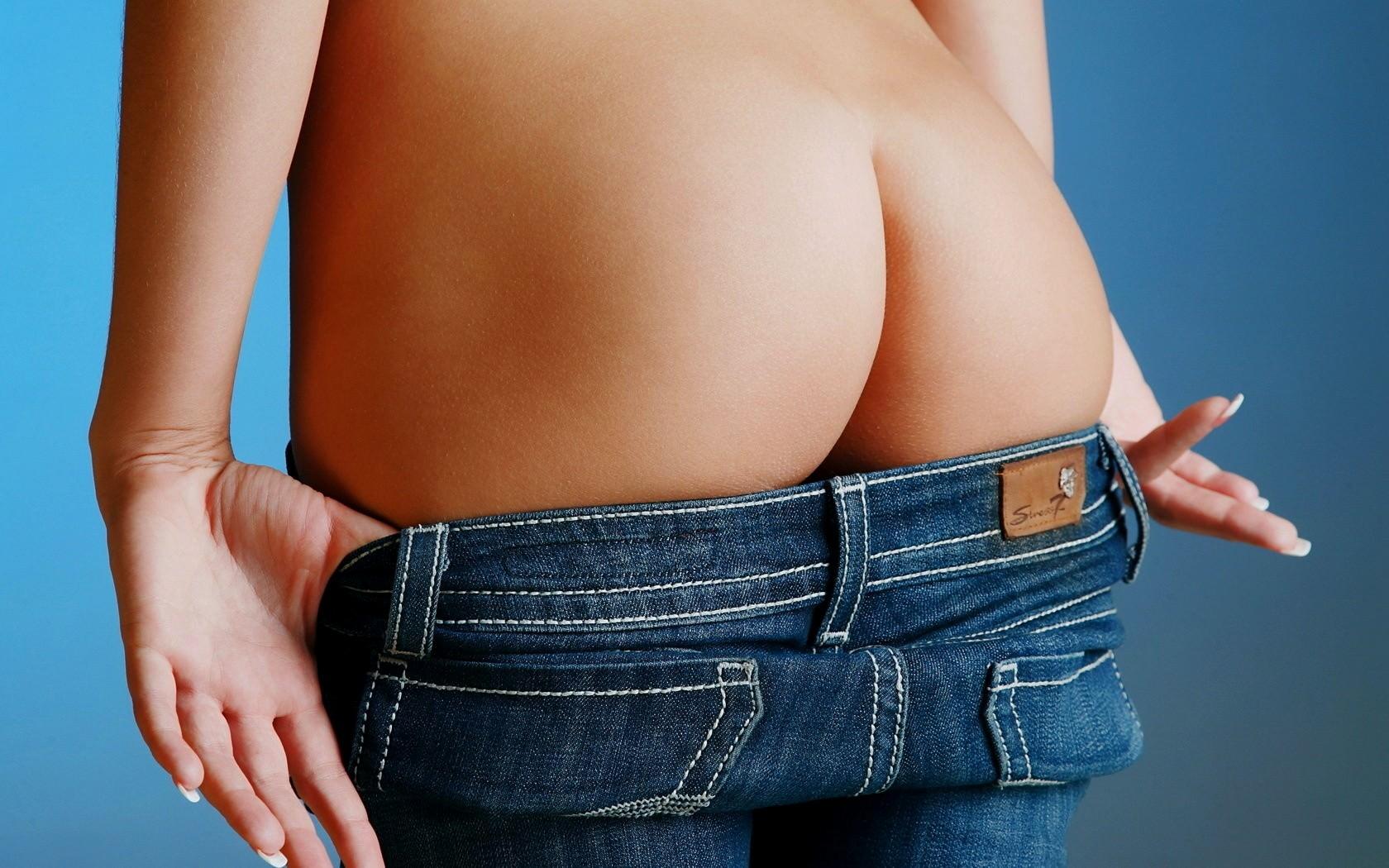 Женские трусики под джинсами
