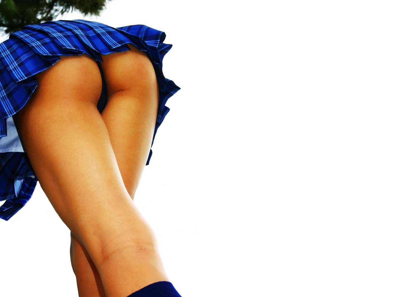 Попка мини юбка