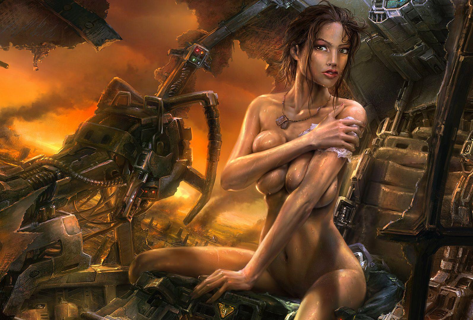 Обнаженные девушки воительницы фото