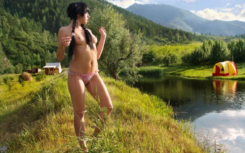 Секс на природе с палатками 23 фотография