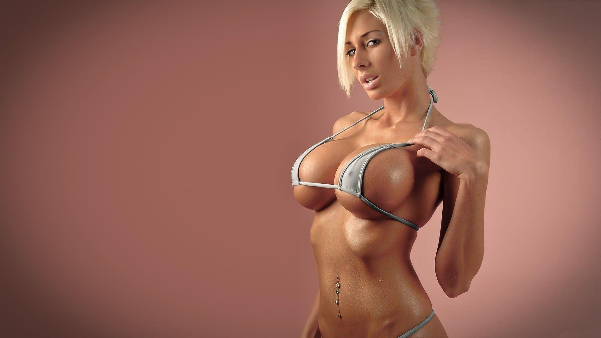 Большие сиськи в экстрим бикини фото 723-140