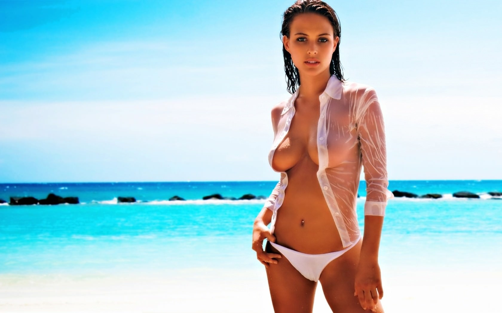 Самые красивые девушки на пляже 18 фотография